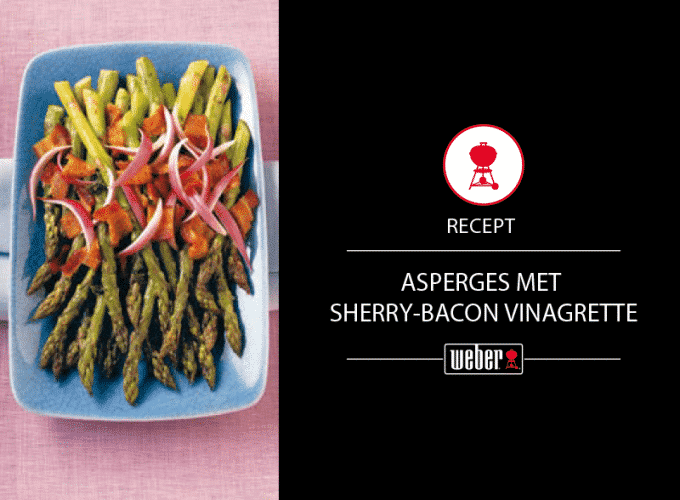 Asperges met sherry-bacon vinaigrette