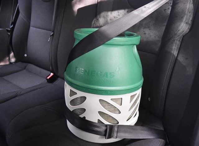 Veilig gasflessen vervoeren