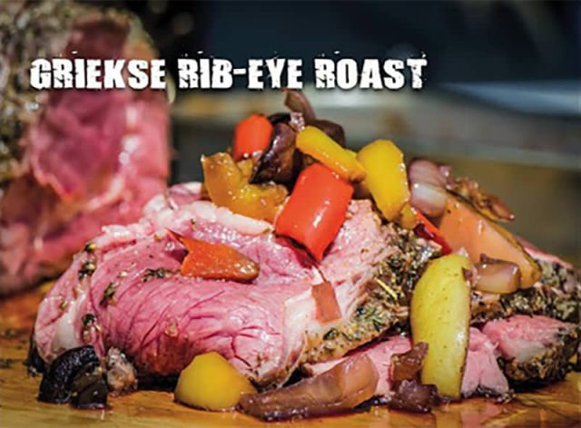 Griekse rib-eye roast