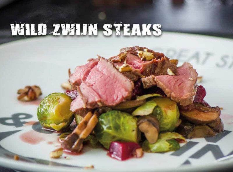 Wild zwijn steaks